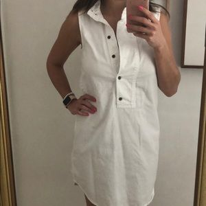 Equipment White Denim Shift Dress
